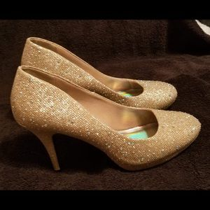 Prom shoes, worn for one night at prom.